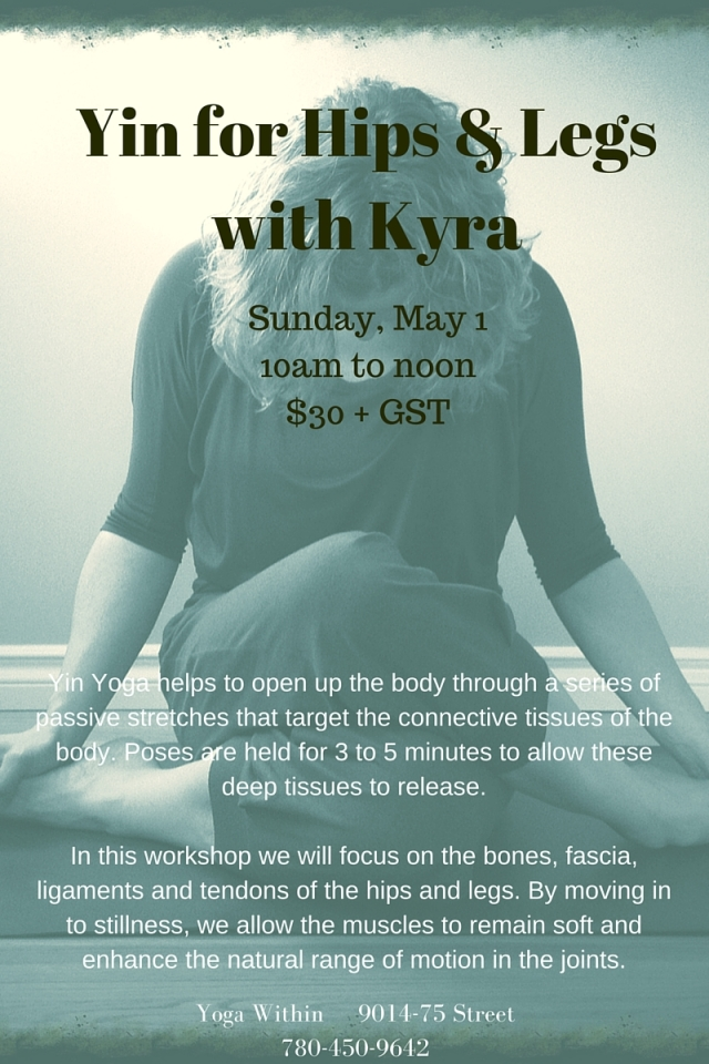 Yin for Hips & Legswith Kyra