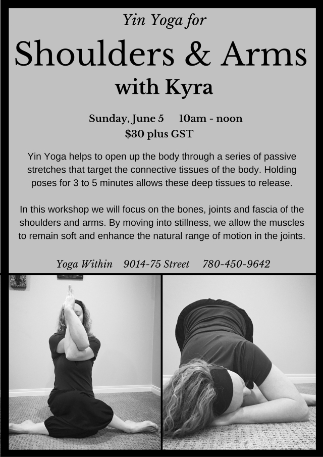 Yin Yoga for Shoulders & Arms